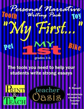 """Personal Narrative Writing Prompt """"My First..."""""""
