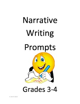 Personal Narrative Writing Prompts Packet