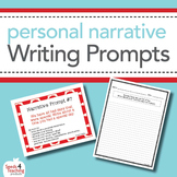 Personal Narrative Writing Prompts Task Cards