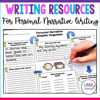 Writing Resources:*Personal Narrative* Graphic Organizers, Prompts, & Assessment