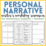 Personal Narrative Writing Resources + Paper + Organizers