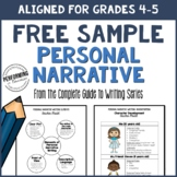 Personal Narrative Writing Sample Grades 4-5 (From the Com