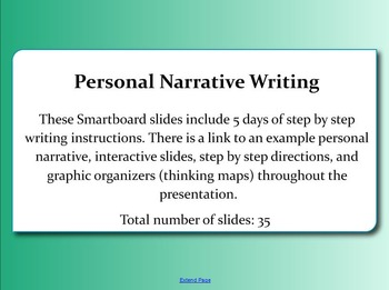 Personal Narrative Writing Slides