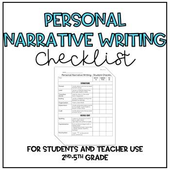 Personal Narrative Writing Checklist
