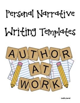 Personal Narrative Writing Template