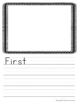 Personal Narrative Writing Templates for Kindergarten