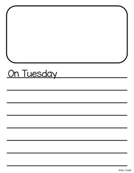 Personal Narrative Writing Templates for Kindergarten and 1st Grade