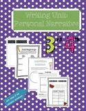 Personal Narrative Writing Unit (CCSS Aligned 3rd/4th grade) BONUS BUY!