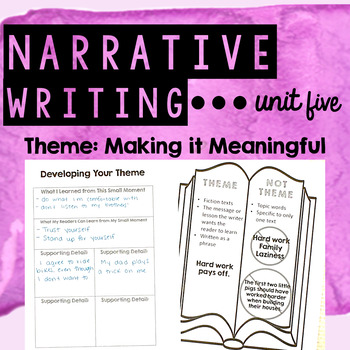 Personal Narrative Writing - Unit Five - Developing a Mean