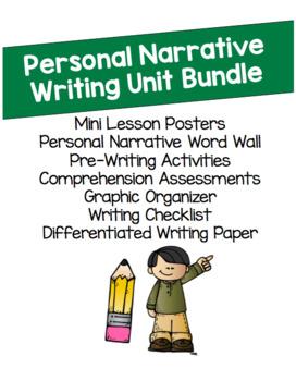 Personal Narrative Unit Writing Bundle
