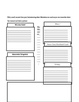 Personal Narrative Writing Workshop Middle School