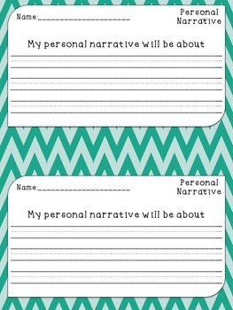 Personal Narrative Writing for the Primary Grades