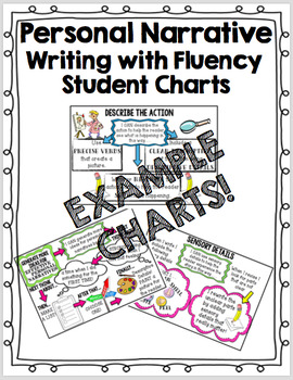 Personal Narrative Writing with Fluency Student Charts - Third Grade