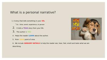 Personal Narrative and Memoir Notes