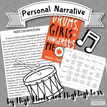 Personal Narrative for Drums, Girls, & Dangerous Pie