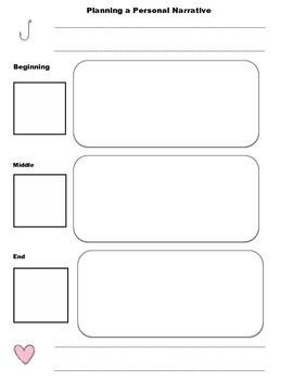 Personal Narrative for graphic organizer