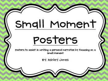 Personal Narrative/Small Moment Posters