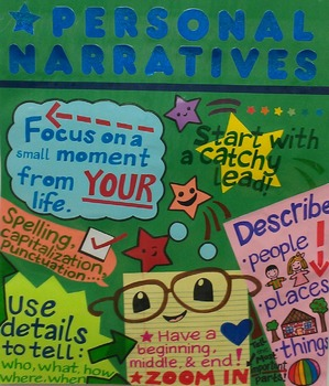 Personal Narratives Anchor Chart