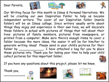 Personal Narratives - Inspiration Folders