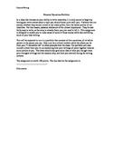 Personal Narratives Portfolio Assignment Sheet