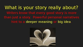 Personal Narratives (theme) PowerPoint