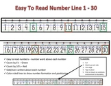 Number Line (Personal and EZ to read) Visual 1 - 30