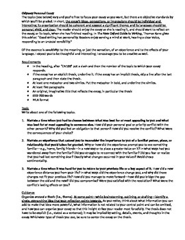 English Essay Question Examples Personal Odyssey Essay Narrative George Washington Essay Paper also Science Essay Examples Personal Odyssey Essay Narrative By Keith Muller  Tpt Essay Examples English