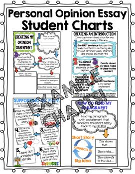 Personal Opinion Essay Writing Charts - Third Grade