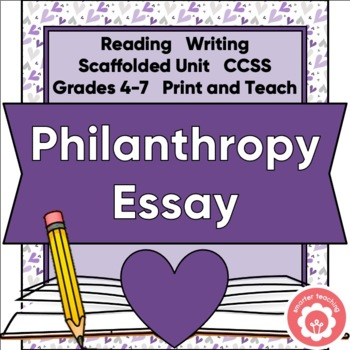 Philanthropy: Writing An Opinion Or Persuasive Essay