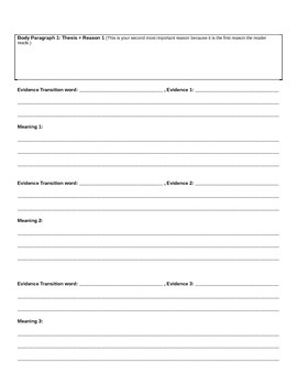 Personal/Persuasive Essay Planning and Draft Packet