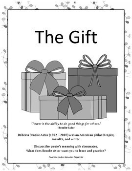 Philanthropy: The Gift An Opinion/Persuasive Essay