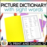 Personal Picture Dictionary with Sight Words   Print and Digital