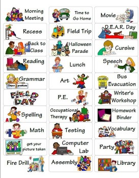 personal picture schedule by my special education store tpt