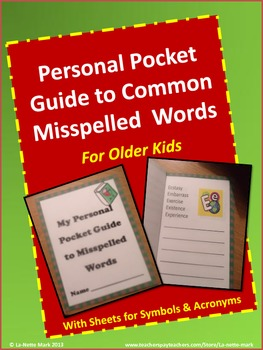 Personal  Pocket Guide to Misspelled Words