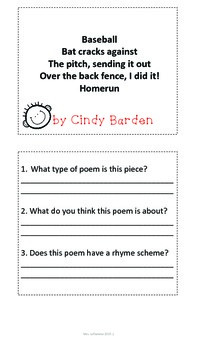 Personal Poetry Notebooks A Complete Poetry Unit