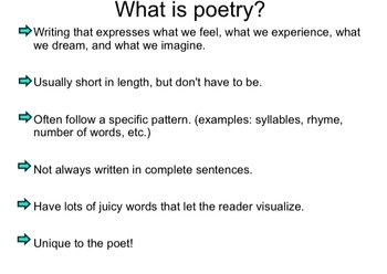 Personal Poetry Unit