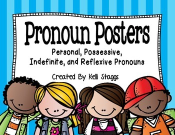 Personal, Possessive, Indefinite, and Reflexive Pronoun Posters