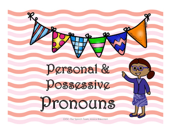 Personal & Possessive Pronouns : Back to School Speech Therapy