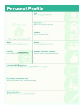 Personal Profile Handout