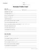 Personal Profile Sheets– Get to Know Your New Students {Fully Editable}