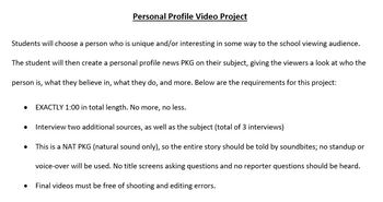 Personal Profile Video Project
