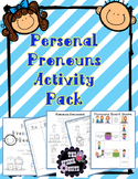 Personal Pronoun Activity Pack