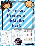 Personal Pronoun Activity Pack