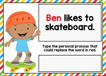 Personal Pronoun Boom Cards