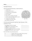 Personal Pronoun Thanksgiving/Fall Worksheet