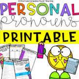 Personal Pronouns  -  Activities and Worksheets