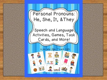 Personal Pronouns: He, She, It, and They [Speech and Language Activities]