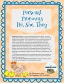 Personal Pronouns, He, She, & They Language Development