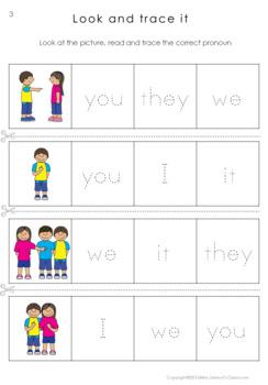 pronouns personal pronoun worksheets kindergarten english grade activities classroom teaching miss nouns kid learn special jelena alphabet lessons class preview