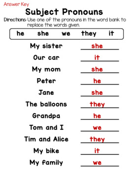 Personal Pronouns: Subject and Object Pronouns Worksheets ...